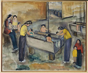 Hisako Hibi, Laundry Room, 1945.